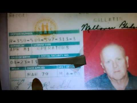 MY GrandPa  REDDEN  . OLD DRIVER'S LICENSE ( Mar ' 79 - DIED :  Nov ' 80 )