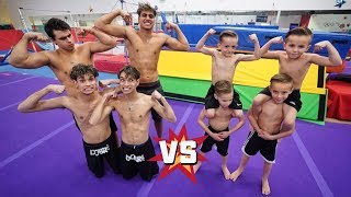 MINI DOBRE BROTHERS CHALLENGE US IN GYMNASTICS!