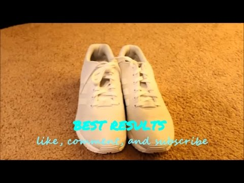 HOW TO CLEAN WHITE SNEAKERS!!!