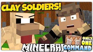 Minecraft  LOGDOTZIP VS DRUMSTICK  Clay Soldiers Custom Command