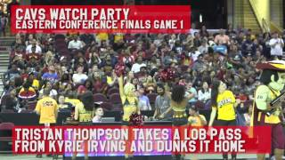 Fans erupt after Kyrie Irving lobs to Tristan Thompson for two points