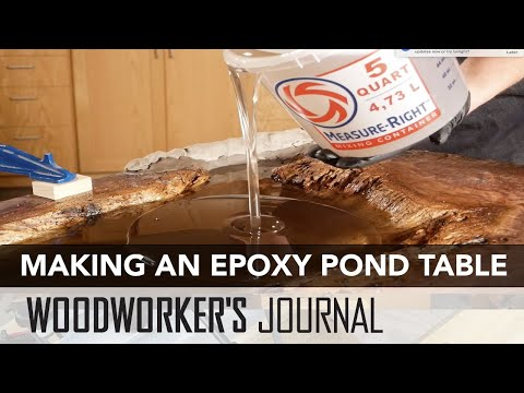 Making an Epoxy Resin Pond Table