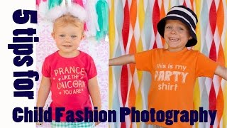 5 Tips For Child Fashion Photography In Your Backyard
