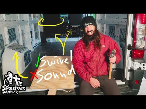SWIVEL SEATS ARE AWESOME!! And Pretty Easy... // Singletrack Sampler Van Build