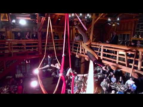 "Central Oregon Aerial Arts Troupe ""Aura"" Aerial Silks Performance"