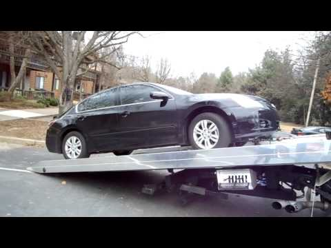 Vikram Cherukuri's Nissan Altima Car Towing by Davis Towing LLC