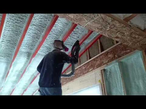 Building Express closed cell spray foam insulation.  Demilec Heatlok HFO High Lift