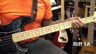 Chic GOOD TIMES Bernard Edwards Style Bass Guitar Riff TABS Lesson 1 EricBlackmonMusicHD