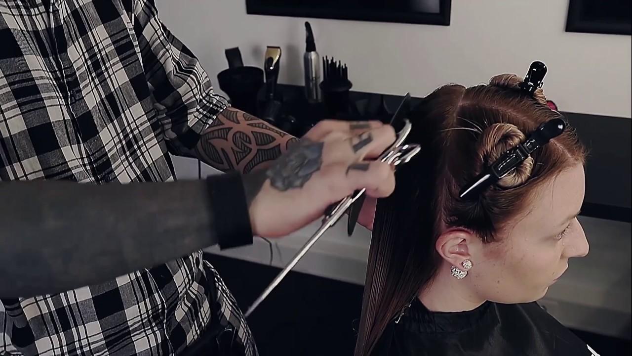 Haarschnitt Anleitung Stufenschnitt Lange Haare Youtube