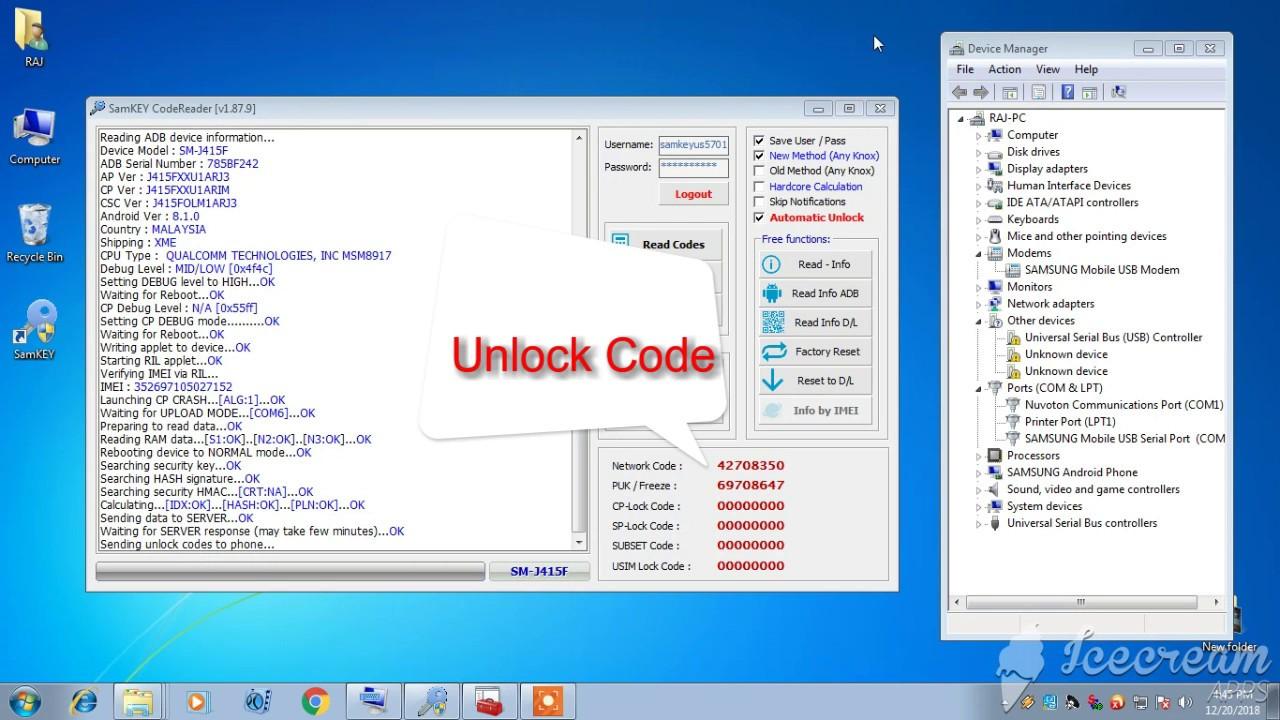 SAMSUNG j4 Plus SM -J415F NETWORK UNLOCK 100% Successful