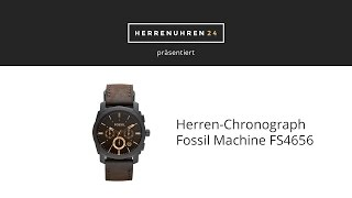 Fossil Uhr Machine FS4656 - Unboxing & Test