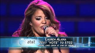 """This is the 2nd of 3 performances. """"maybe it was memphis"""" selected by lauren's """"idol"""", carrie underwood.before she performed for night, revea..."""
