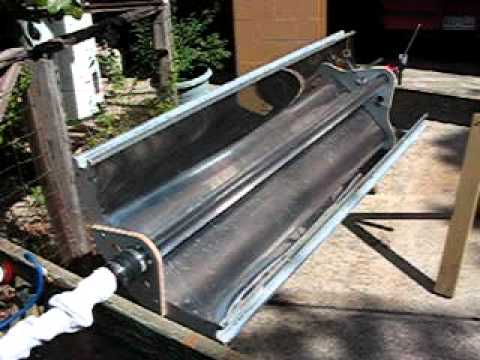 Parabolic Trough Solar Collector Water Heater 2 Youtube