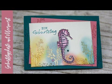 """Geburtstagskarte """"Mit Meerwert"""" von Stampin' Up!"""