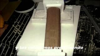 COLUMNAS ROMANAS carton para ( dioramas)