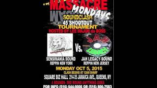 SENSIMANIA SOUND VS JAH LEGACY SOUND 10/5/2015