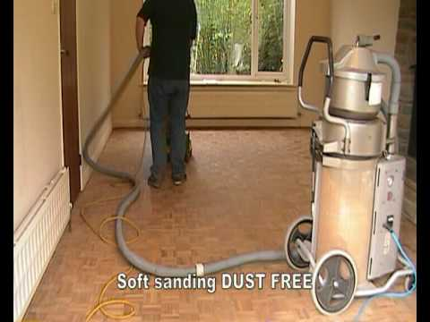 Vacuum Assisted Dust Free Floor Sanding Youtube