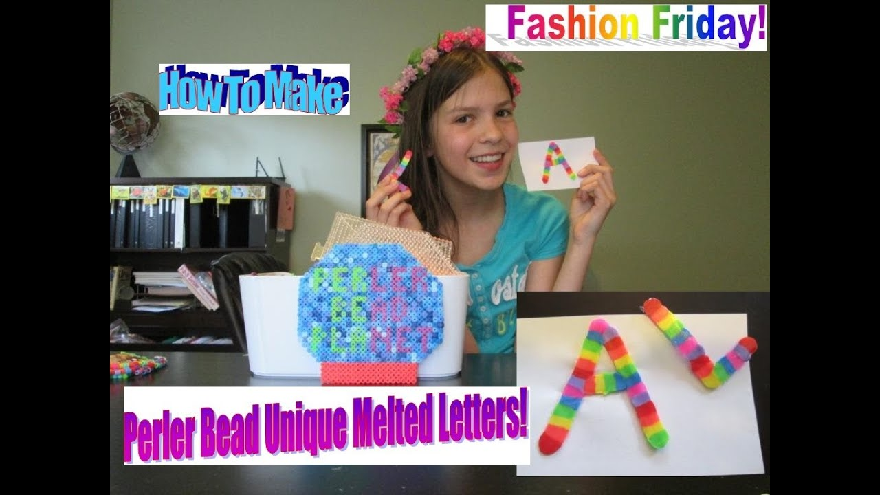 How To Make A Perler Bead Unique Melted Letter!! SO CUTE! - YouTube