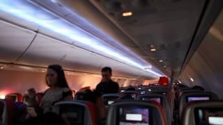 Suasana Kabin Pesawat dalam Penerbangan Batik Air PK-LBO