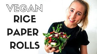 VEGAN RICE PAPER ROLLS I PLANT BASED DIETITIAN