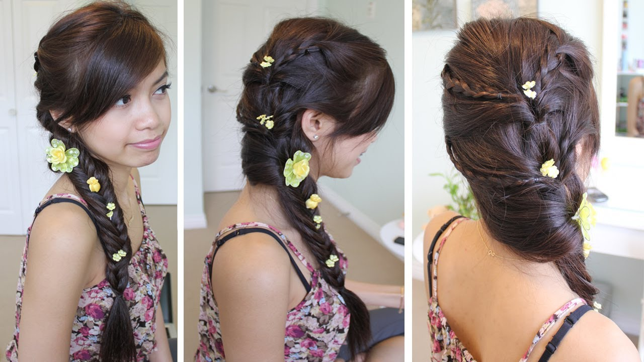 fancy fishtail braid hairstyle