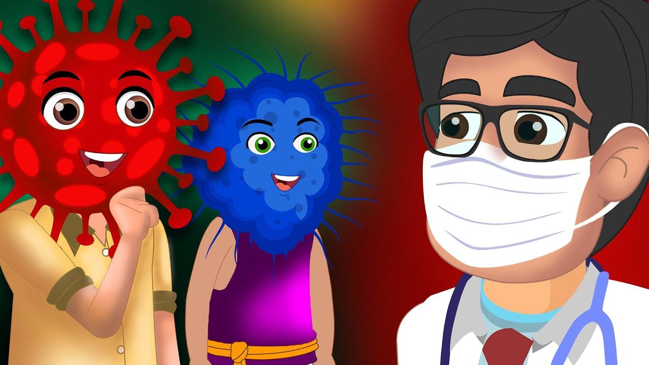 कोरोना और बैक्टीरिया कहानी  | kahani cartoon | Hindi Kahaniya | हिंदी कहानियां Hindi Comedy Video