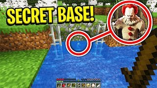 I FOUND PENNYWISE'S SECRET BASE IN MINECRAFT... (Scary Minecraft Video)