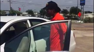 Strangers surprise 20-year-old fast food worker with brand new car