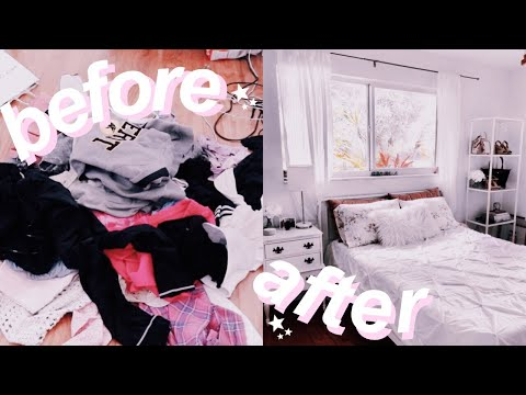 cleaning my EXTREMELY messy room! (satisfying)
