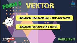 [Part 9] KBSM AddMath F5 | Bab 4 Vektor | 4.3.4-4.3.5 Penambahan dan Penolakan Vektor   #cikgootube