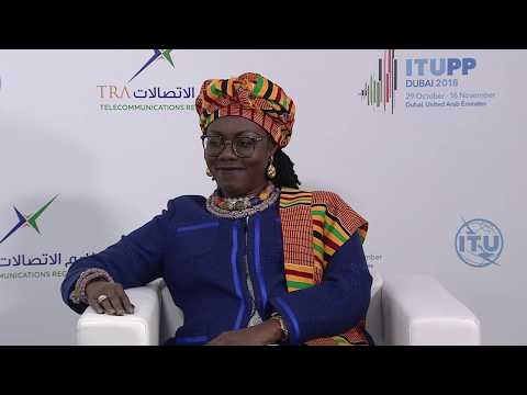 ITU INTERVIEWS @ PP-18: H.E. Ursula Gifty Owusu-Ekuful, Hon. Minister, Ministry of Comms., Ghana