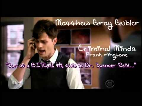 Criminal Minds - Matthew Gray Gubler - Spencer Reid - Prank Ringtone