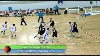 Bursa Bahçeşehir Koleji - Şehit Mehmet Gönenç Lisesi Basketbol Maçı