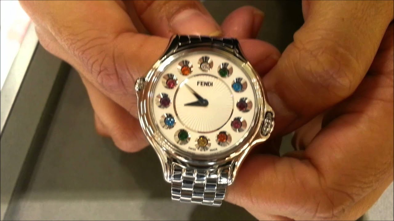 0ccc3c1b0 Fendi Crazy Carats Diamond & Topaz watch - YouTube