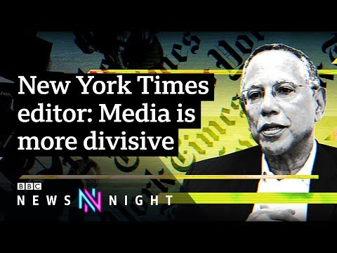 NYT editor Dean Baquet talks Trump, Weinstein and racism - BBC Newsnight