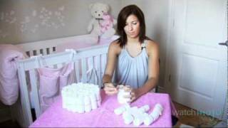Step by Step Instructions to Make A Diaper Cake