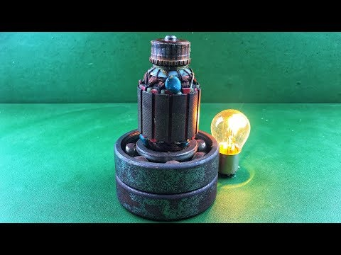 Make 100% free energy generator with battery using the help of bearings at home invention