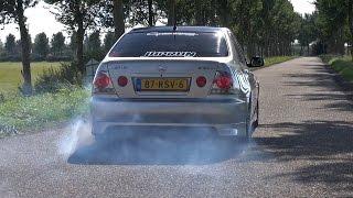 Lexus IS200 w/ Toyota Supra Twin Turbo Engine!! Burnout & Accelerations!