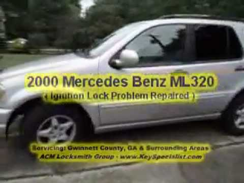 Atlanta ga 2000 mercedes ml320 ignition lock problem for Mercedes benz ignition key troubleshooting