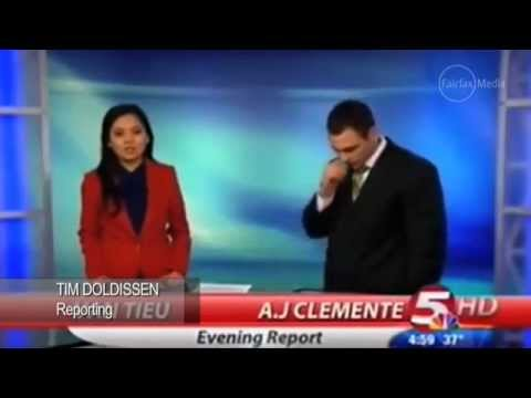 Worst news anchor debut ever