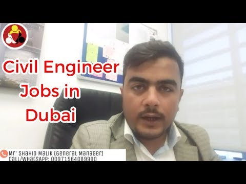 Civil Engineer jobs in Dubai |Shah Consultant LLC Dubai|