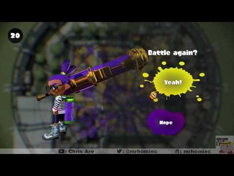 Splatoon (6/02) Solo S+ Rainmaker (Gold Dynamo Roller)