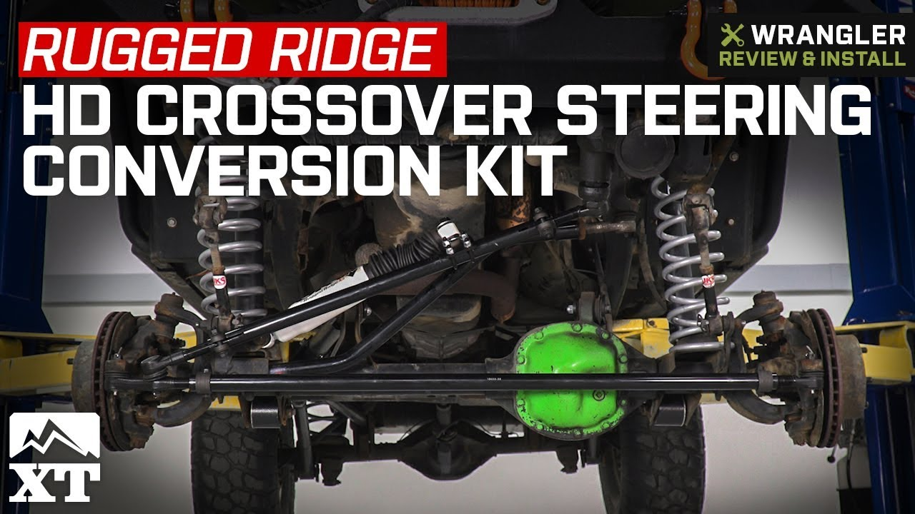 Jeep Wrangler Tj Rugged Ridge Hd Crossover Steering Conversion Kit 1997 2006 4 0l Review Install
