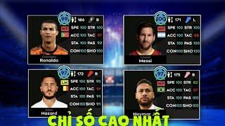Đội hình các cầu thủ chỉ số CAO VÀ MẠNH NHẤT Dream League Soccer 2021