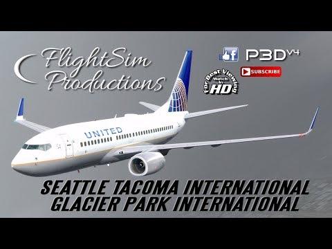 Seattle–Tacoma International - Glacier Park International [P3d v4.2]