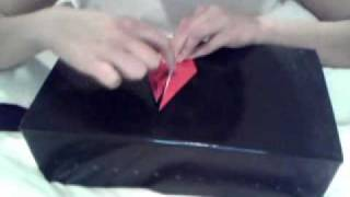 Folding an origami crane - detailed how-to by a Junior Girl Scout