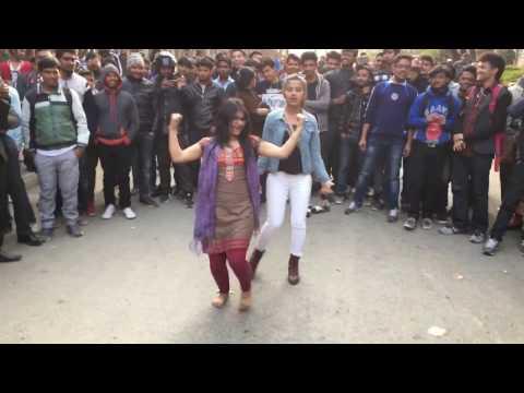 IOE Pulchowk Kathmandu girl dancing 💃🏻 on sarswati Pooja occasion