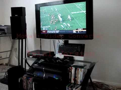 xbox one living room poormans home theater setup ps3 xbox 360 elite htpc 13085