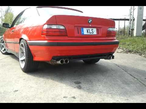bmw e36 supersport exhaust auspuff youtube. Black Bedroom Furniture Sets. Home Design Ideas