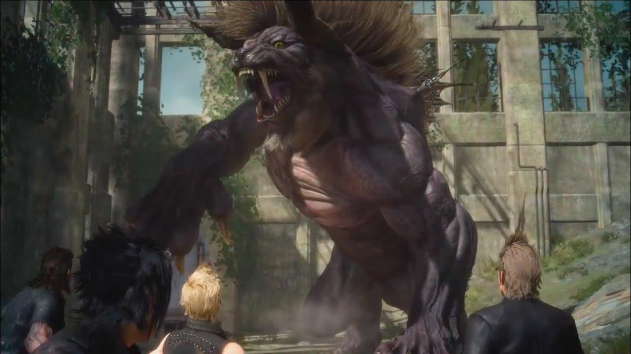 Final Fantasy XV - Behemoth Boss Battle Gameplay - YouTube Behemoth Final Fantasy 15